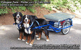 Dog Cart Harness with Ribbon