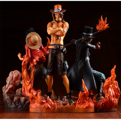 One Piece Ace Luffy Sabo Action Figures - Anime Arts Brasil