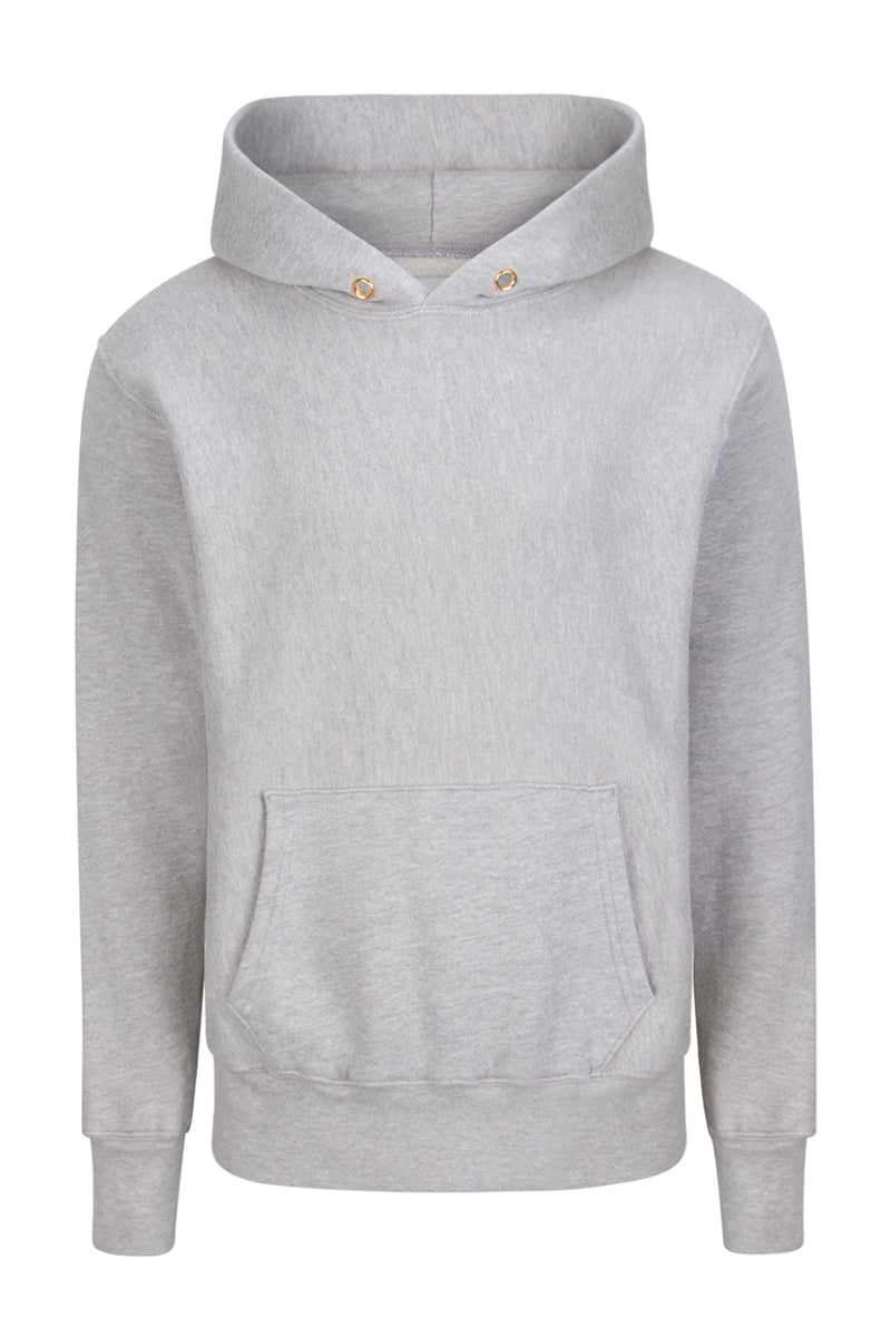 Crop Hoodie Heather Grey image-1