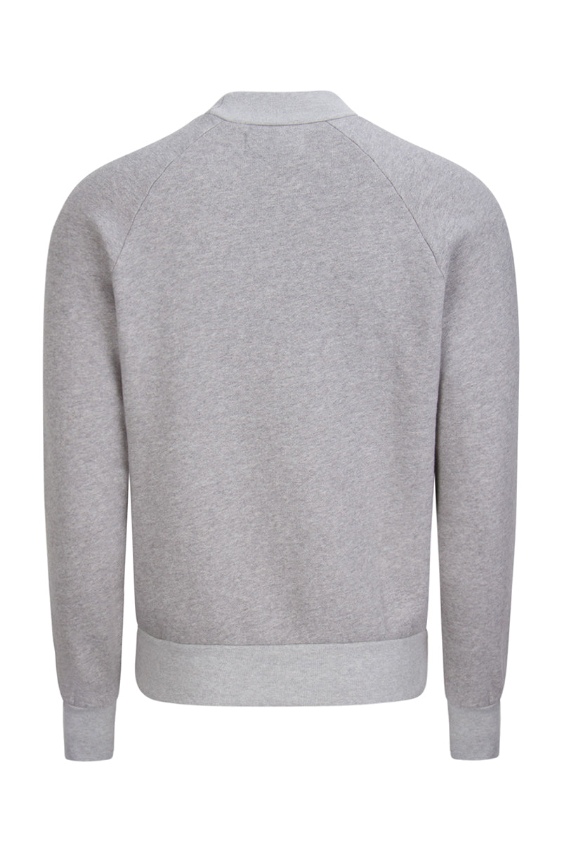 Mock Neck Raglan Heather Grey image-2