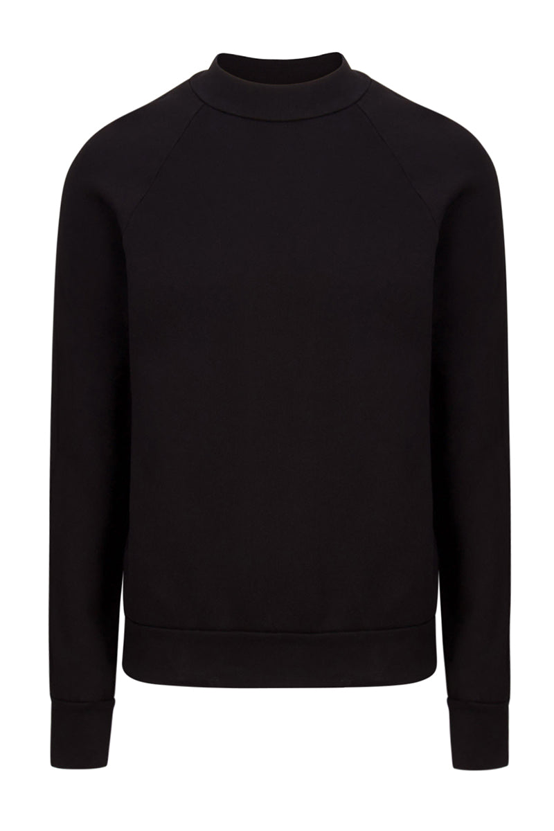 Mock Neck Raglan Jet Black image-1