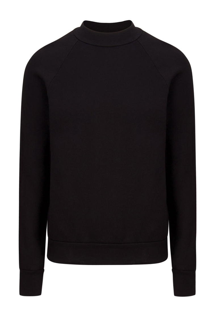 Mock Neck Raglan Black image-1