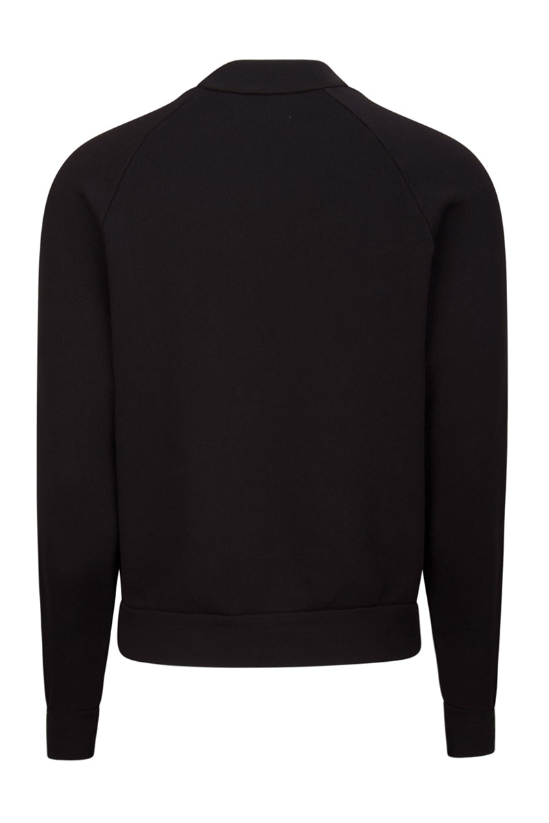 Mock Neck Raglan Jet Black image-2