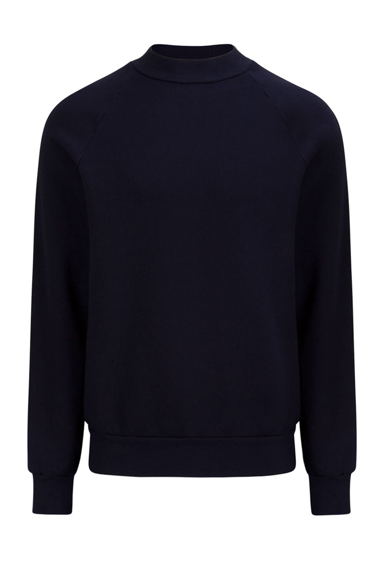 Mock Neck Raglan Navy image-1