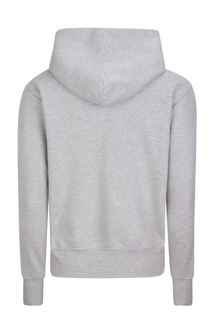 Crop Zip Hoodie Heather Grey image-2