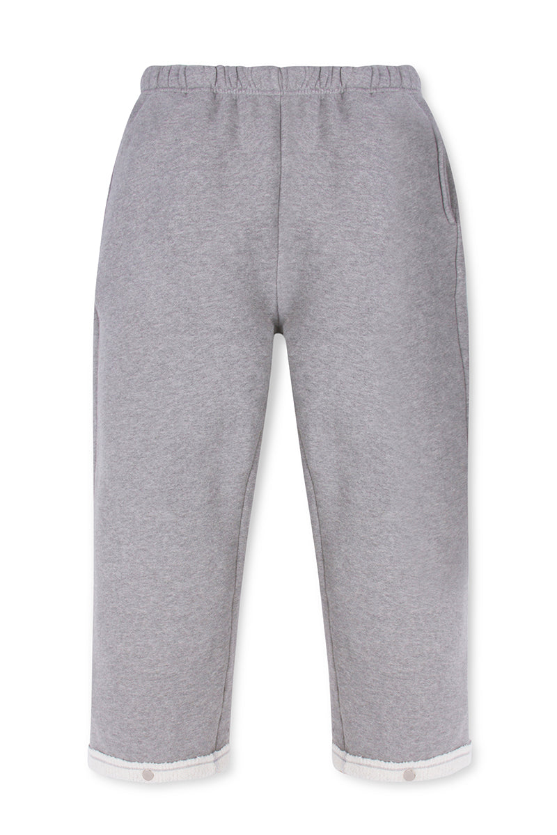 Snap Front Pant Heather Grey image-1