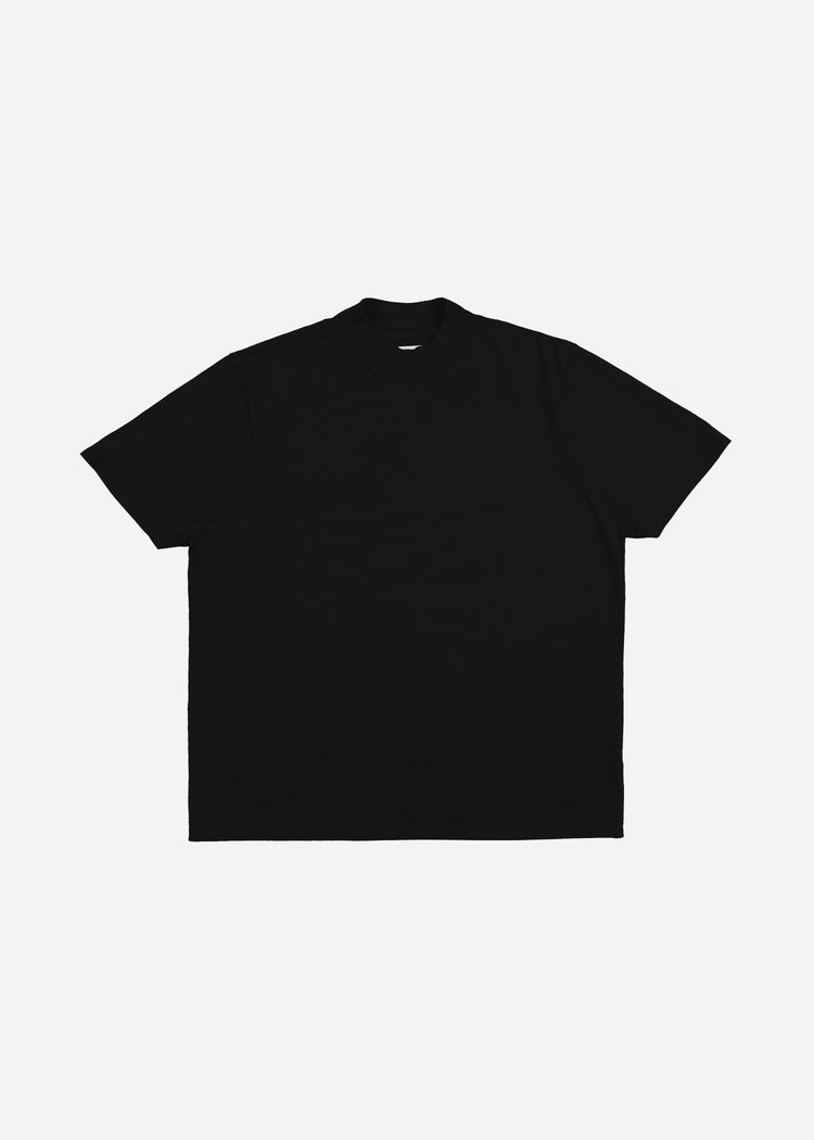Mock Neck Tee Jet Black image-1