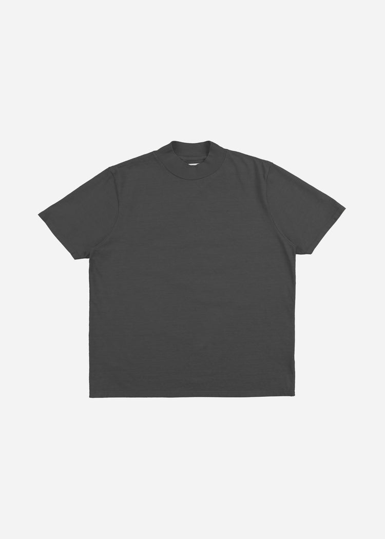 Mock Neck Tee Vintage Black image-1