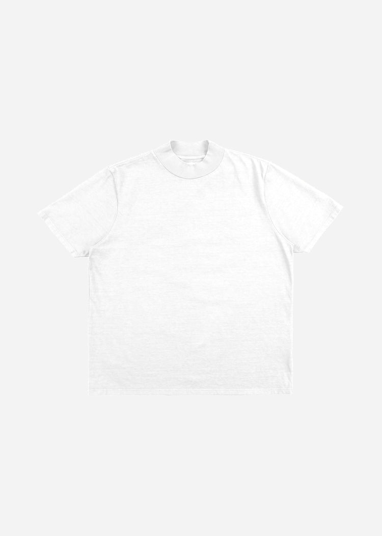 Mock Neck Tee White image-1