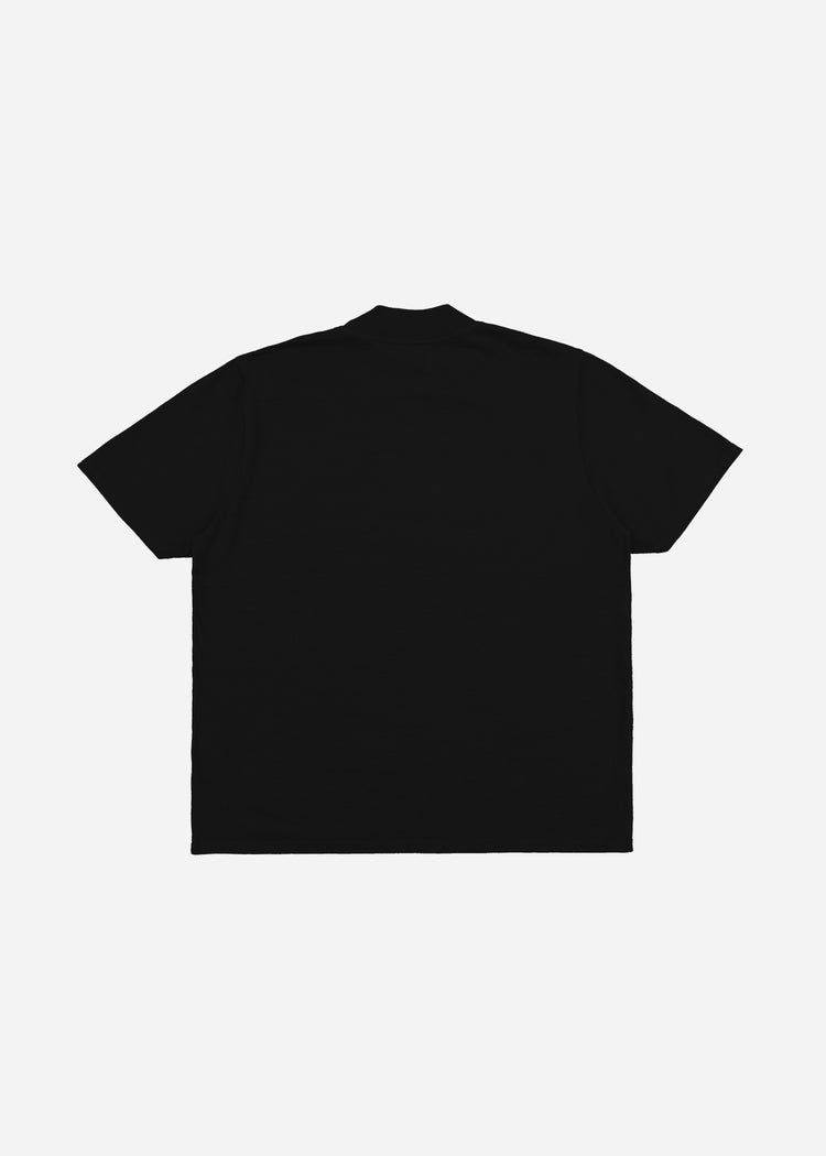 Mock Neck Tee Jet Black image-2