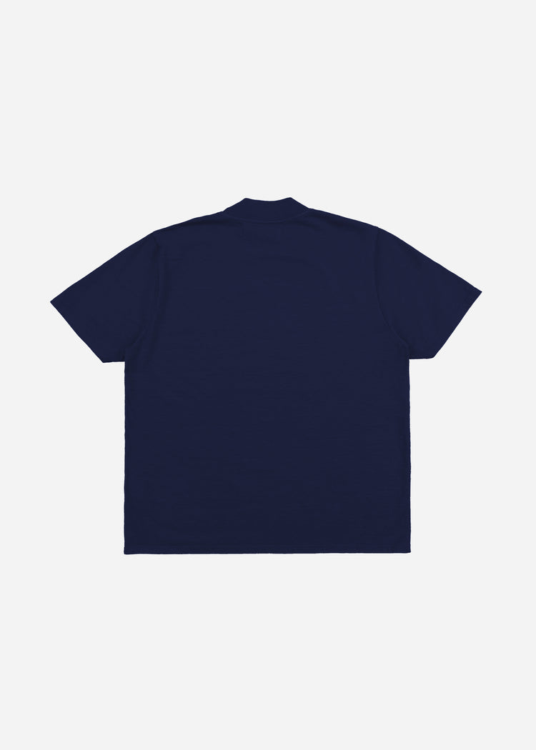 Mock Neck Tee Navy image-8
