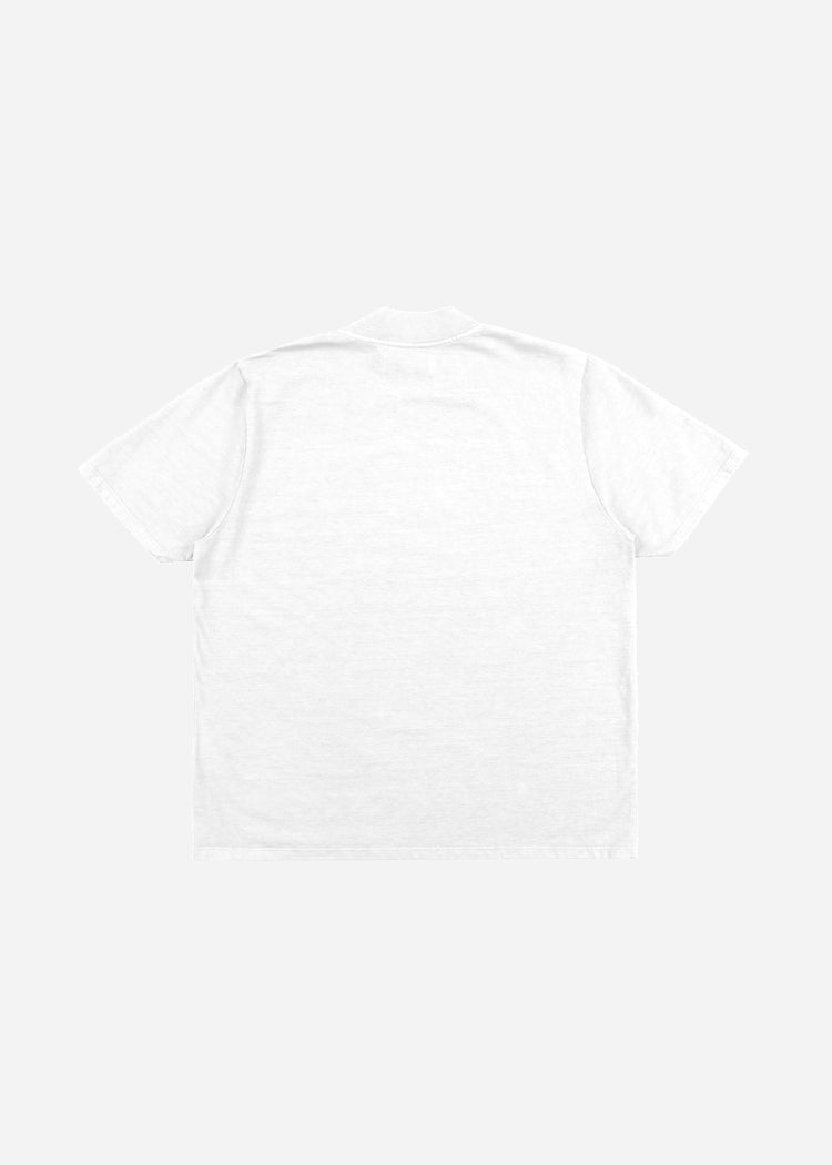 Mock Neck Tee White image-2