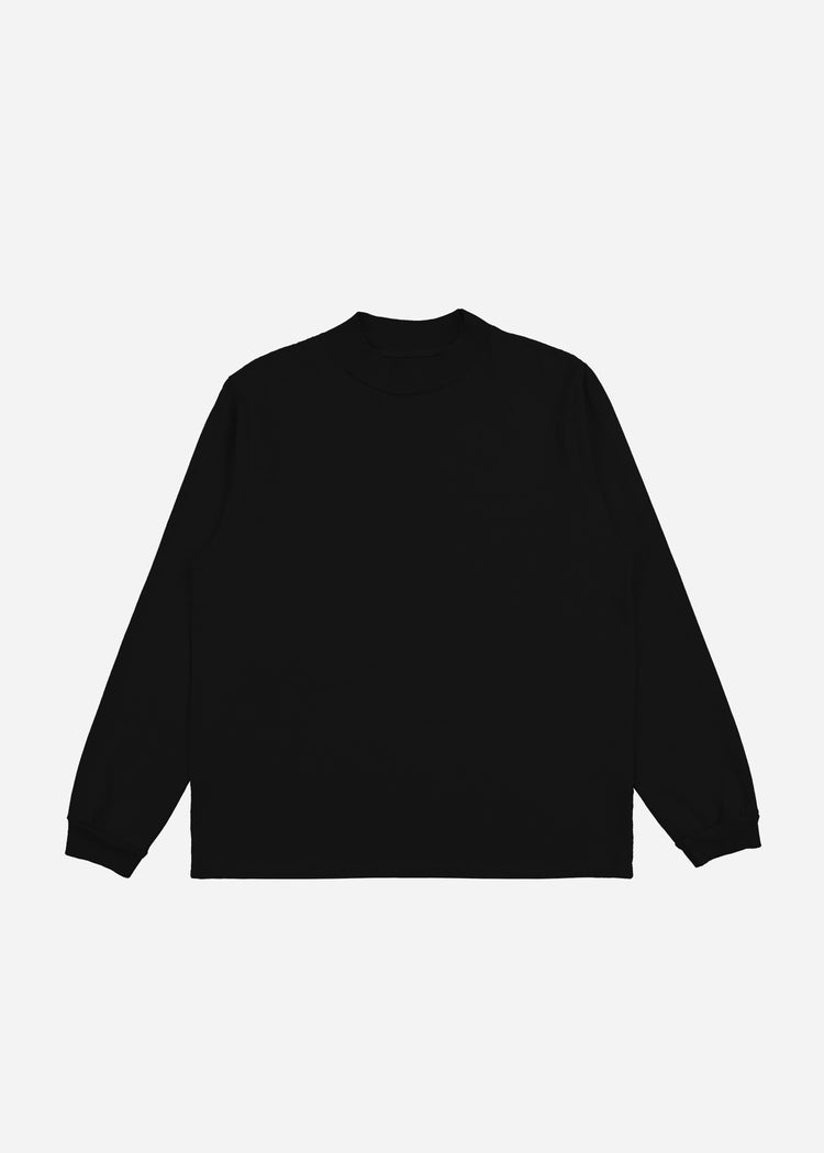 Mock Neck Long Sleeve Jet Black image-1