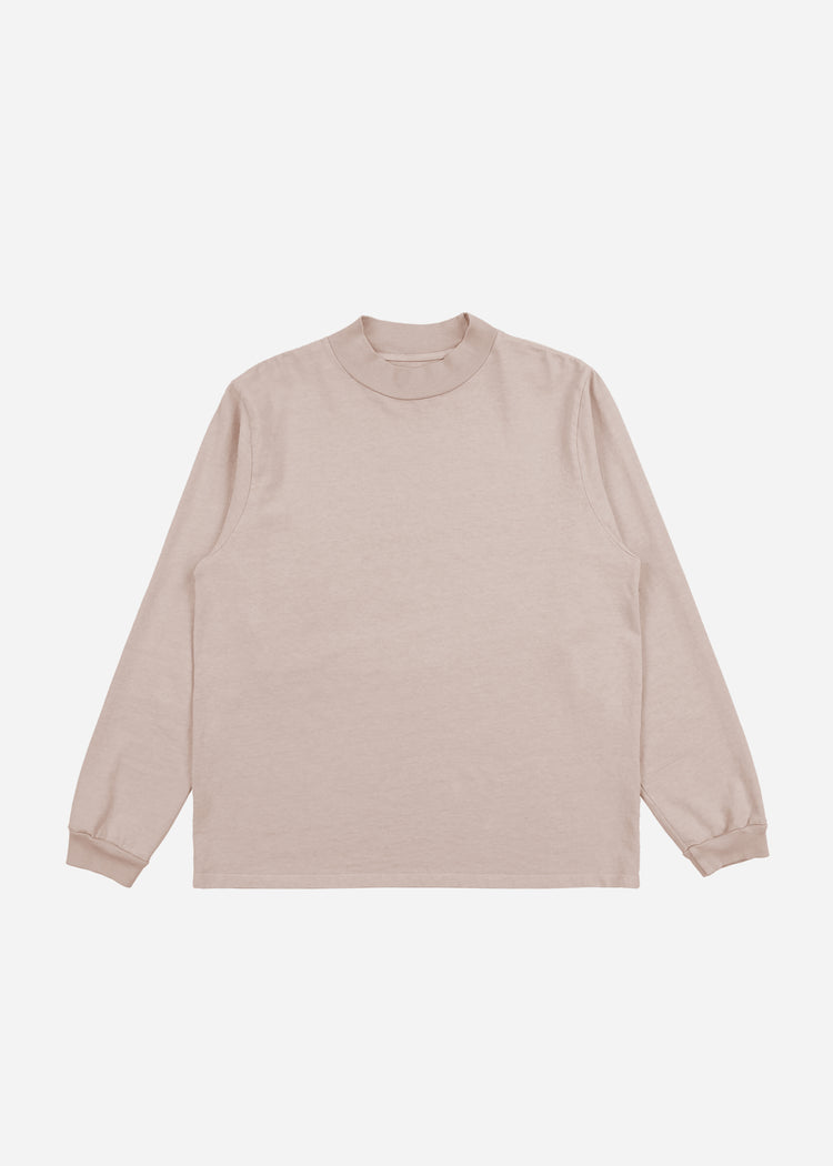 Mock Neck Long Sleeve Mauve image-1