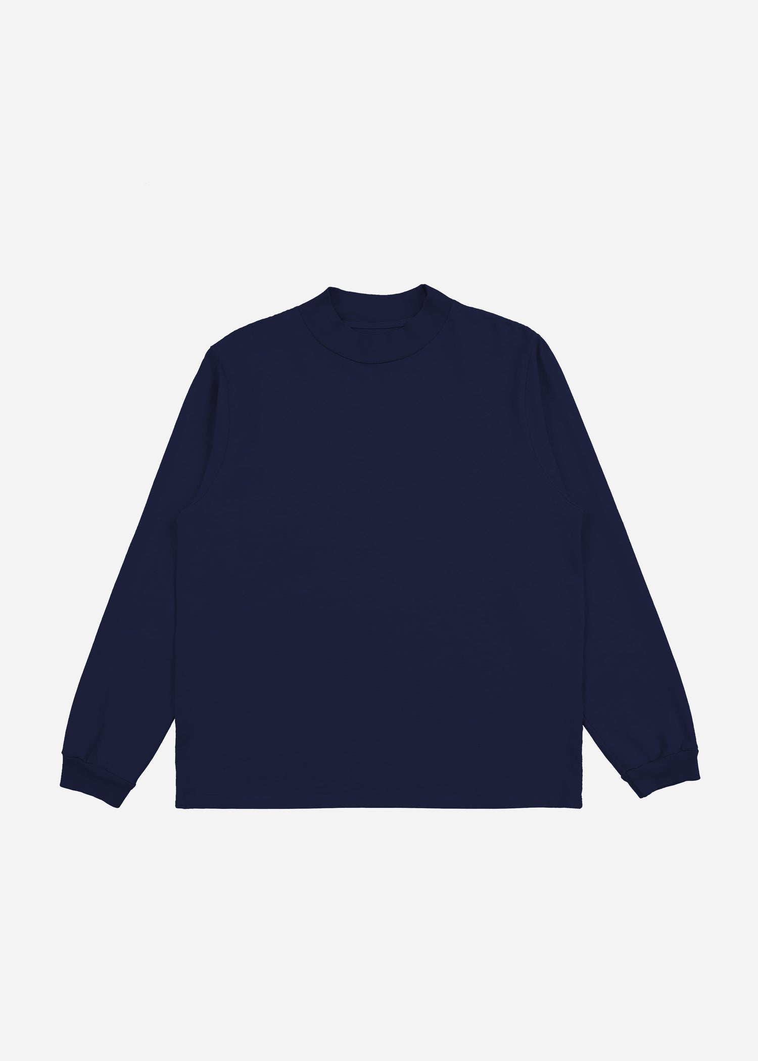 Mock Neck Long Sleeve Navy image-2