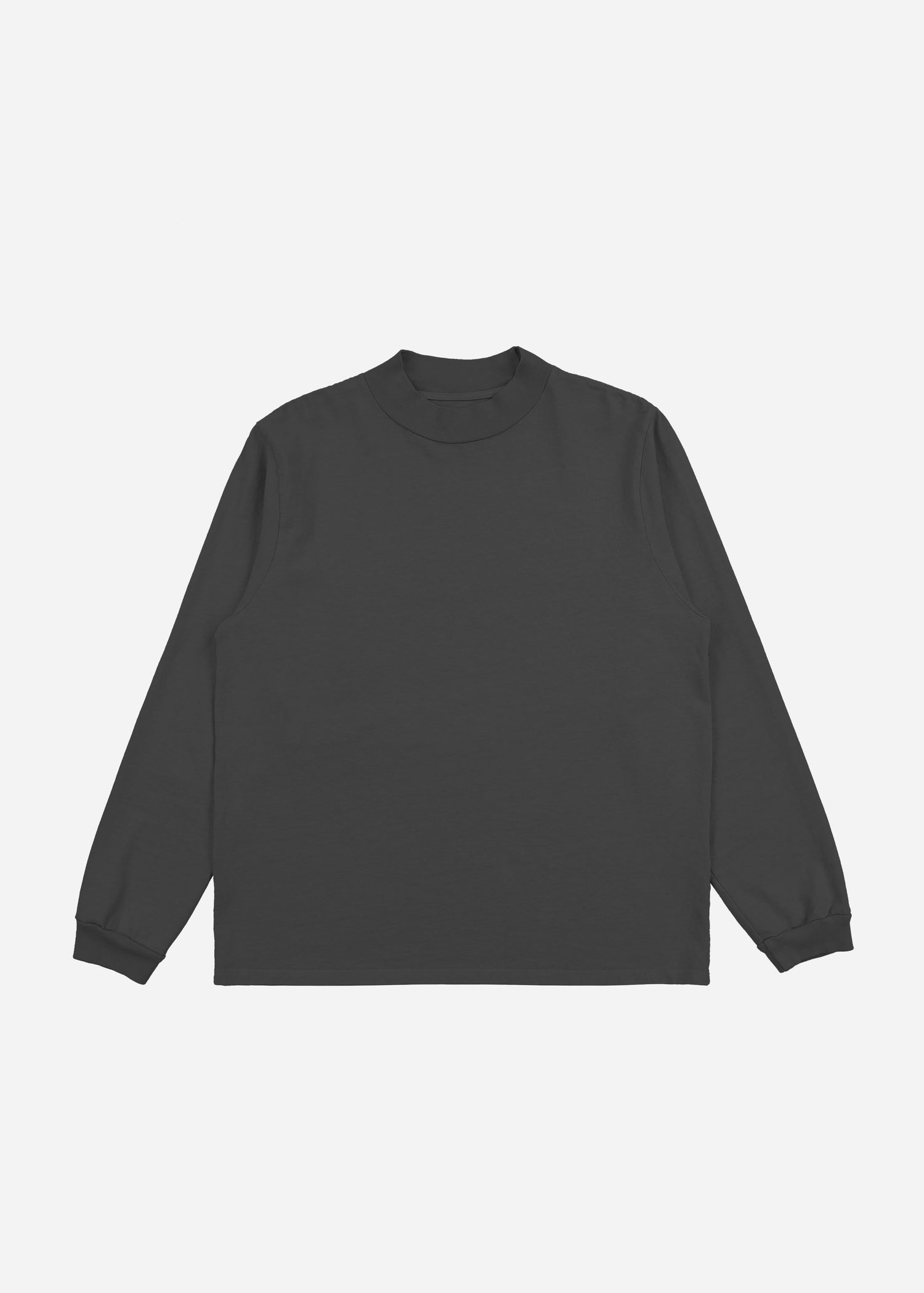 Mock Neck Long Sleeve Vintage Black image-1