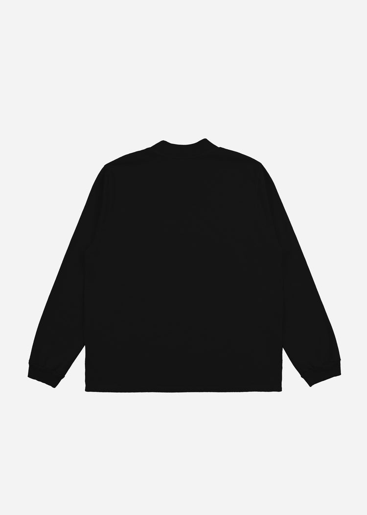Mock Neck Long Sleeve Jet Black image-2