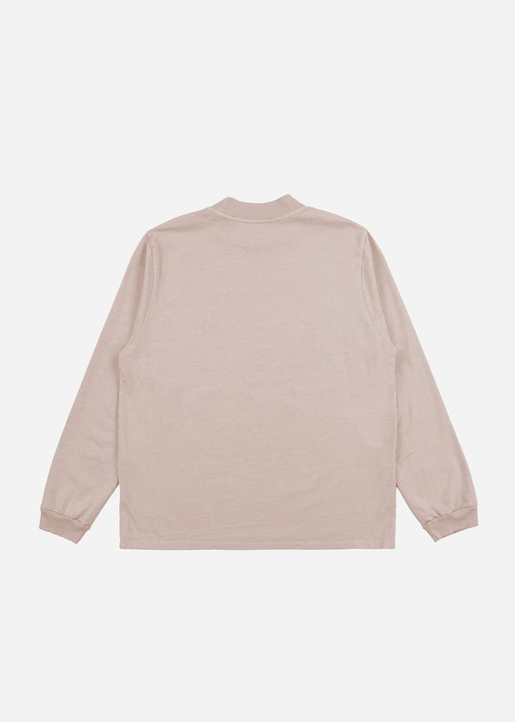 Mock Neck Long Sleeve Mauve image-2