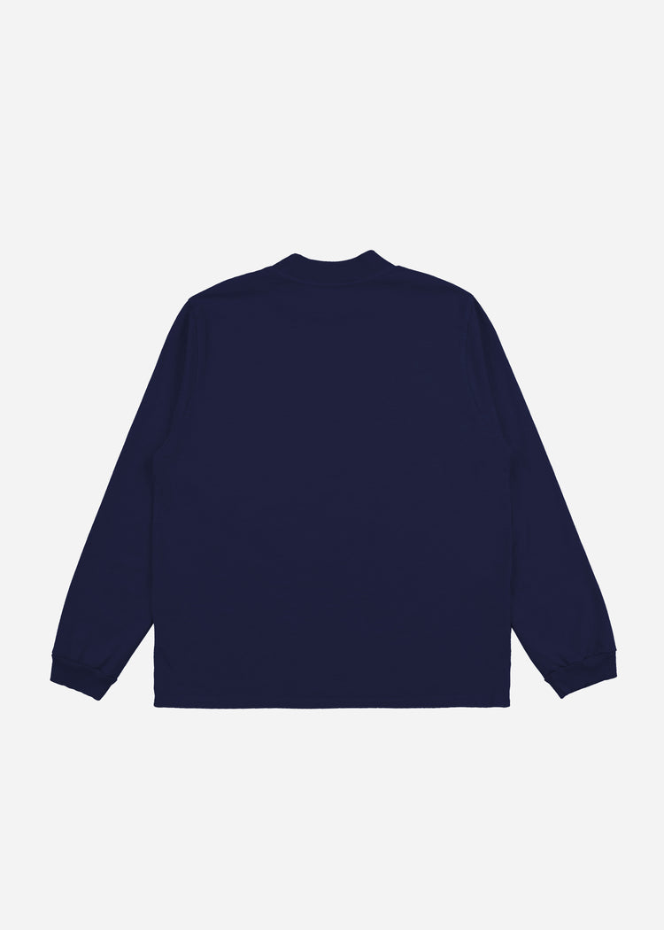 Mock Neck Long Sleeve Navy image-4