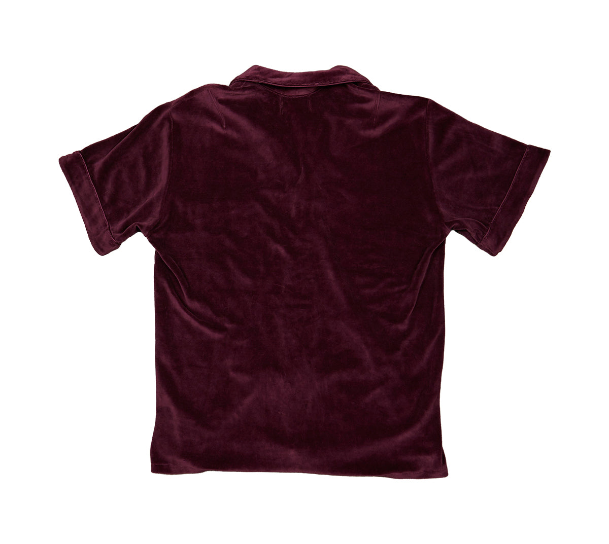 Short Sleeve Lounge Shirt Velour image-2