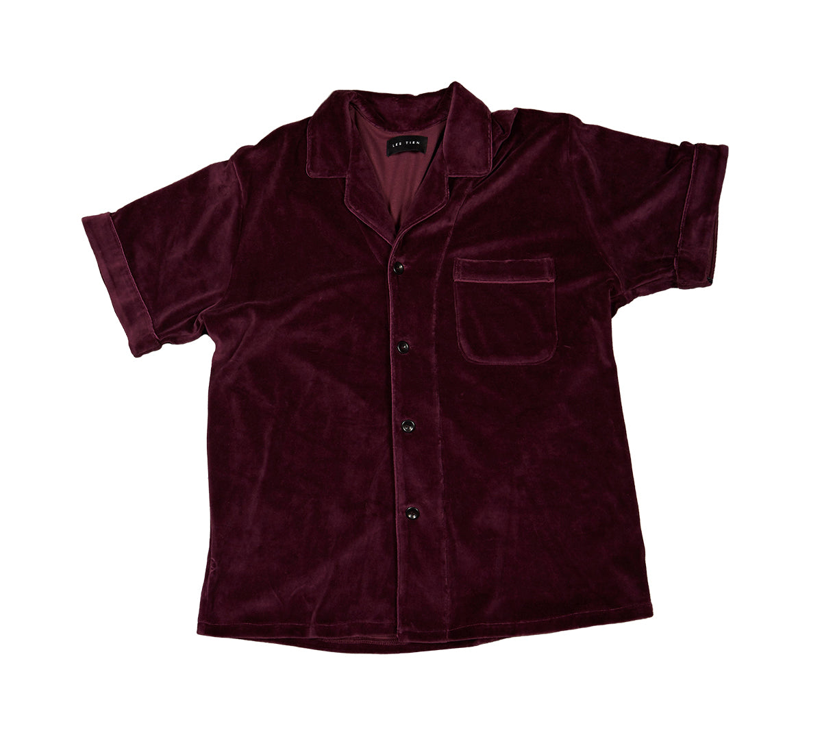Short Sleeve Lounge Shirt Velour image-1