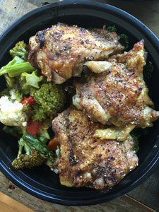 Sumac and Citrus Chicken Thighs with Asparagus