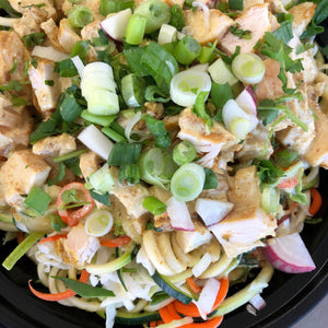 Singapore Chicken Zoodle Bowl