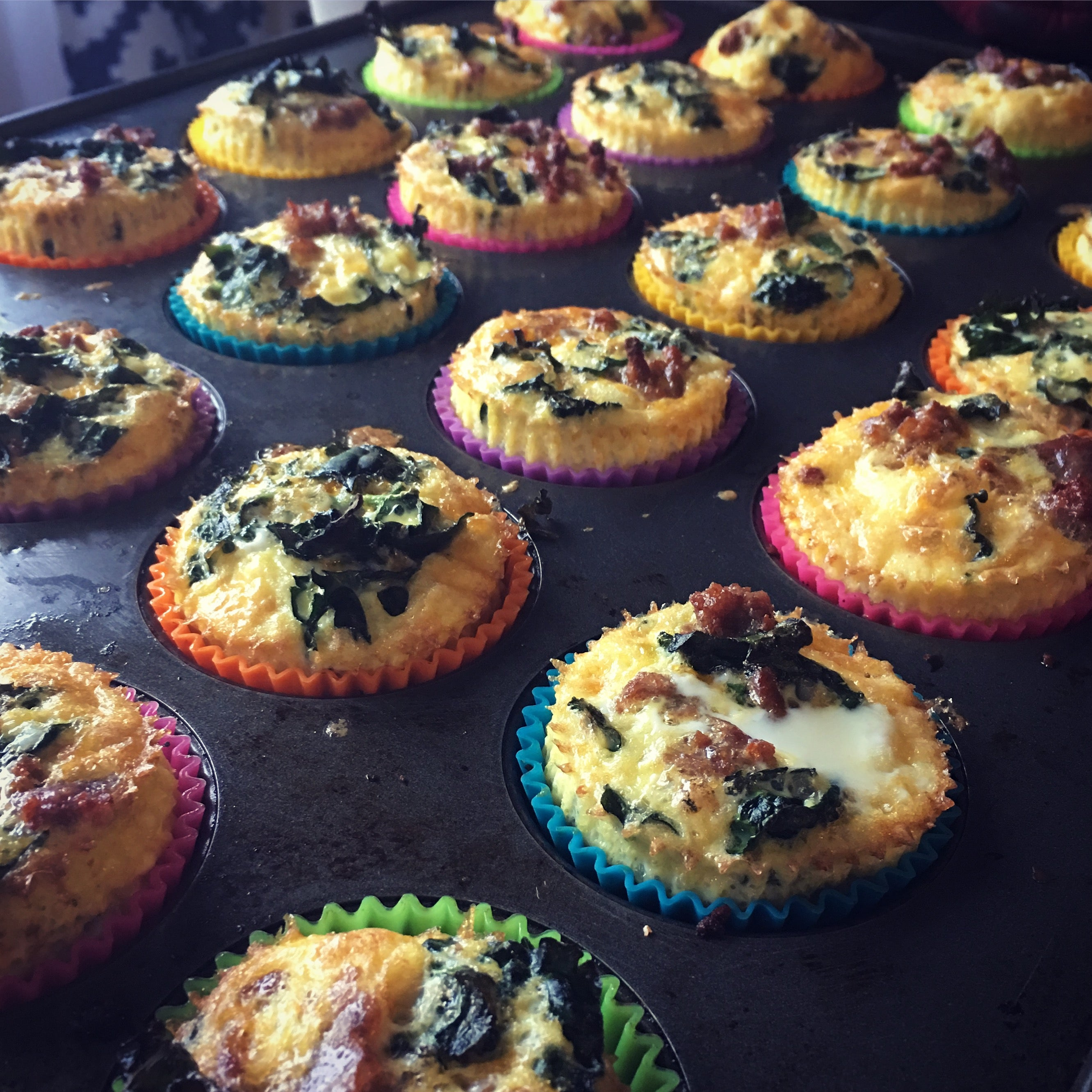 Sausage and Spinach Egg Muffins