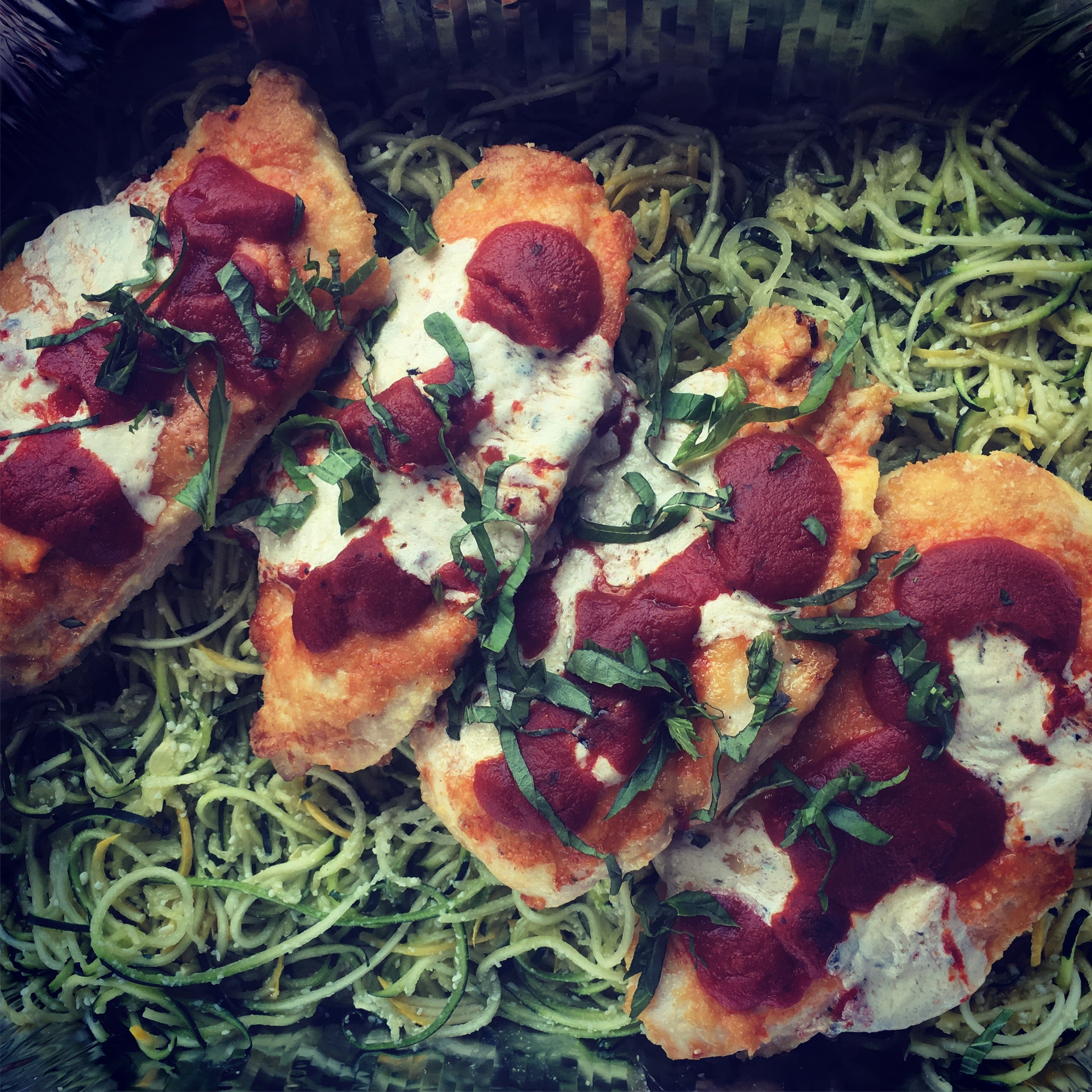 Chicken Parmesan with Zoodles