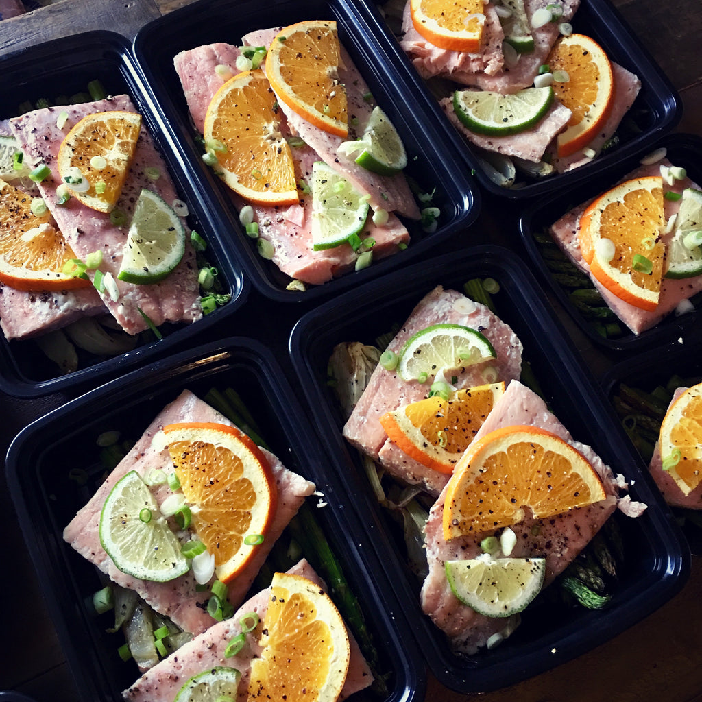 Slow Roasted Citrus Salmon with Fennel