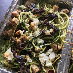 Chicken Zoodle Pesto Casserole