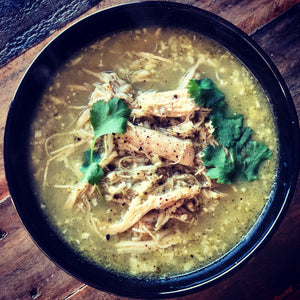Peruvian Chicken Cauli Rice Soup