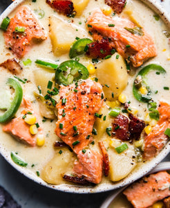 Salmon Bacon Chowder