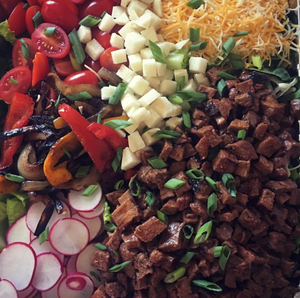 Korean Beef Fajita Salad