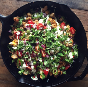 Cauliflower Nachos with Chicken