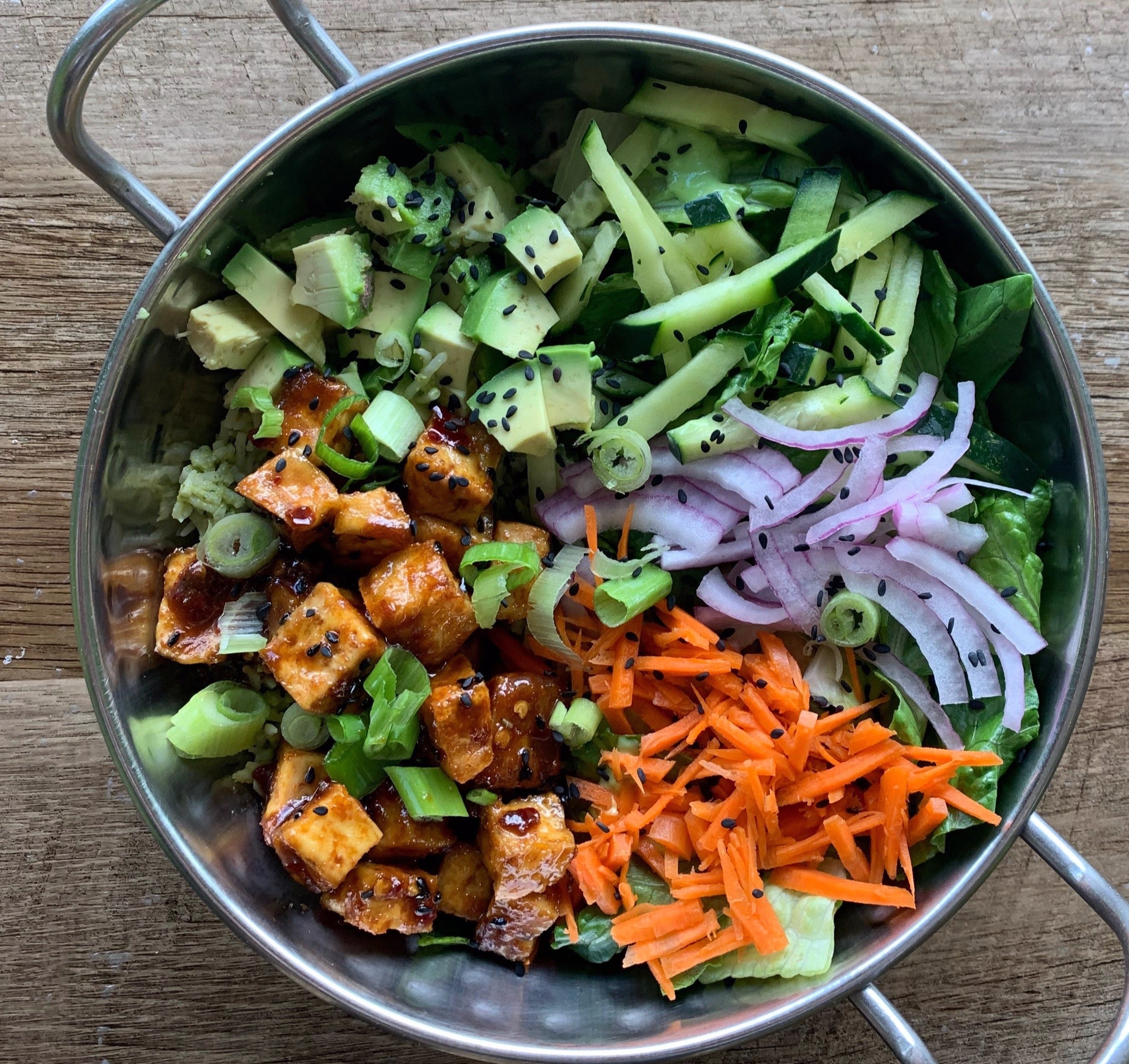 Korean BBQ Tofu Salad
