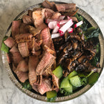 Asian Steak Salad with Ginger dressing