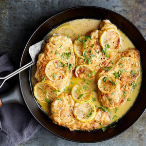 Chicken Francese (lemon and garlic chicken)