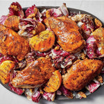 Balsamic-Orange chicken with Radicchio and Cabbage