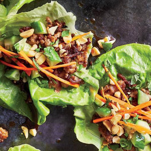 Thai Turkey lettuce wraps (larb)