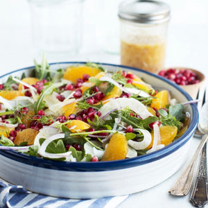 Arugula, Fennel, Apple, Mandarin Orange and Pomegranate Salad