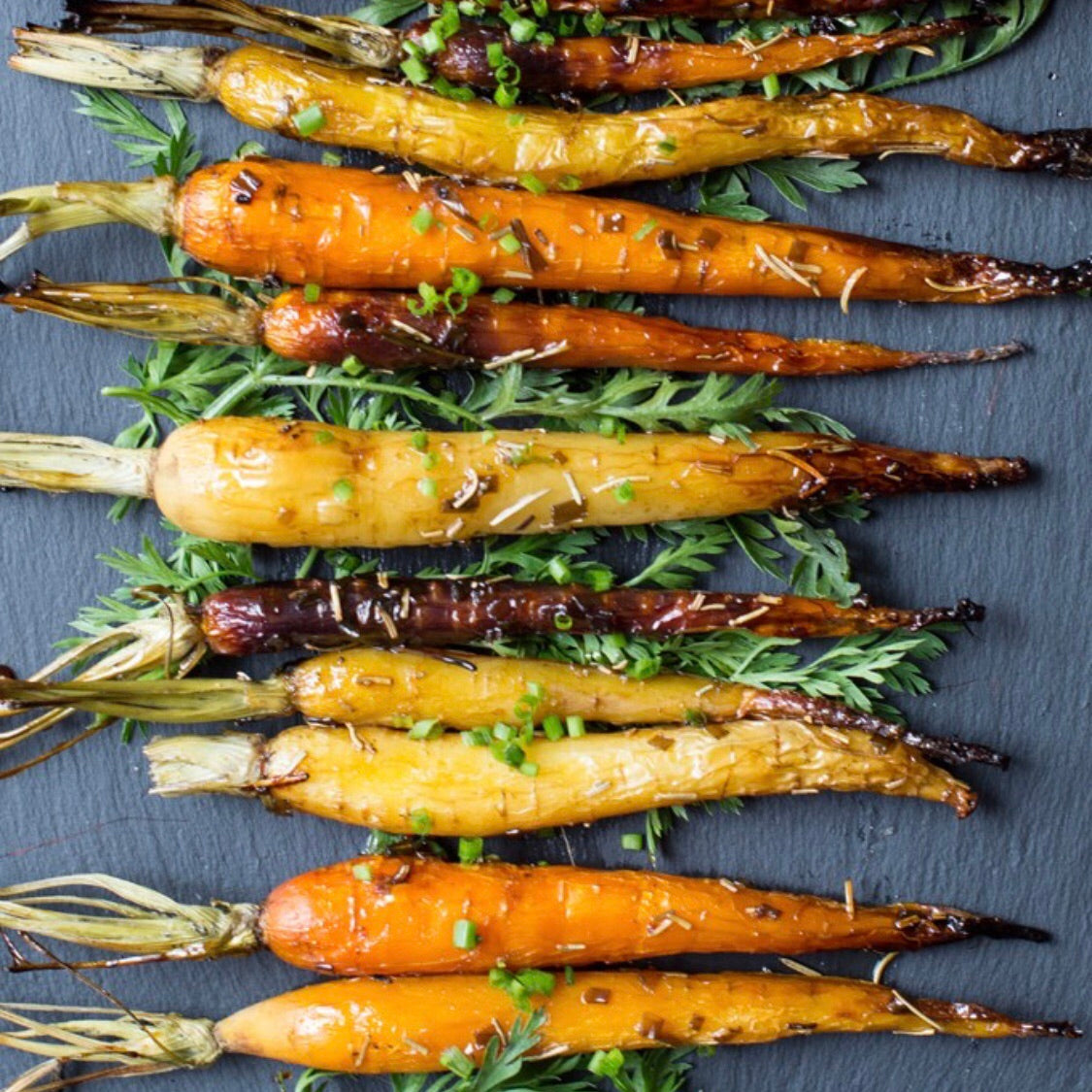 Roasted Carrots with Fresh Herbs and Onions