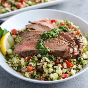 Cuban Steak Bowl with Chimichurri