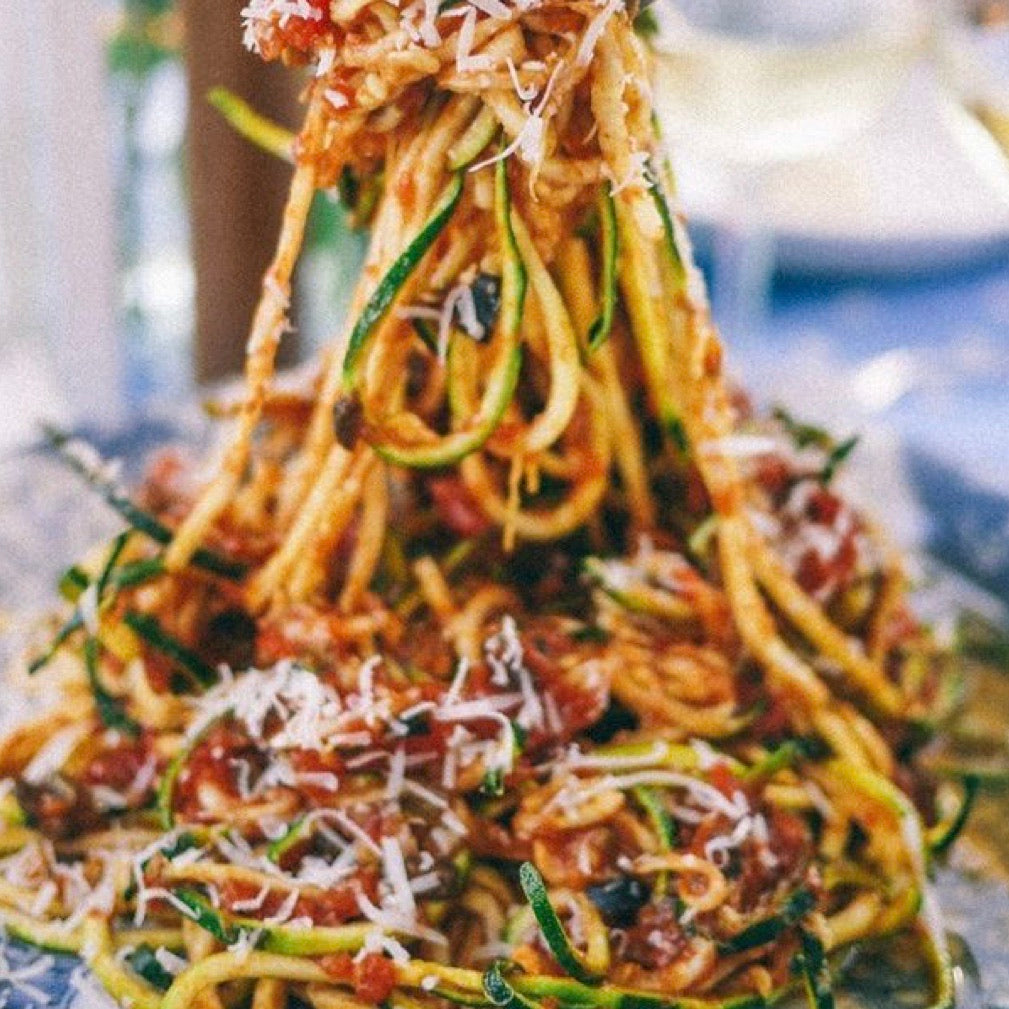 Arrabiatta with Meat Sauce and Zoodles