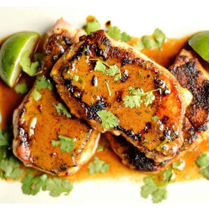 Creamy, Smoky, Chipotle Pork Chops