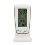 New LED Digital Alarm Clock with Blue Backlight Electronic Calendar Thermometer Gift 4RF