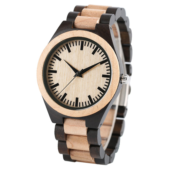Luxury Maple Wooden Watch Men Handmade Gifts Nature Full Wood Quartz Bamboo Wrist Watch Clocks Male Hours relogio de madeira