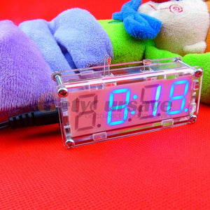 DIY Electronic Microcontroller Kit LED Digital Clock Time Thermometer Alarm Clock 3 Colors