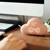 LED USB Powered Cloud Alarm Clock With Snooze