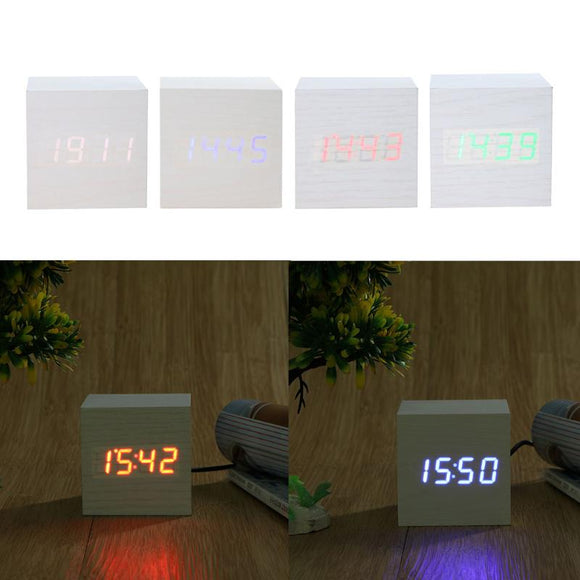 USB Powered Cube Alarm Clock With Voice Control